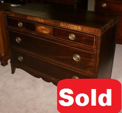 inlaid mahogany antique dresser