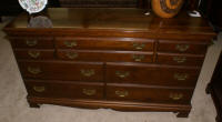 Solid cherry Chippendale dresse