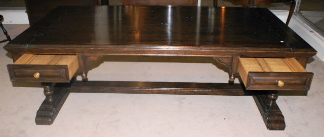 Jonathan Charles Oak Library Table