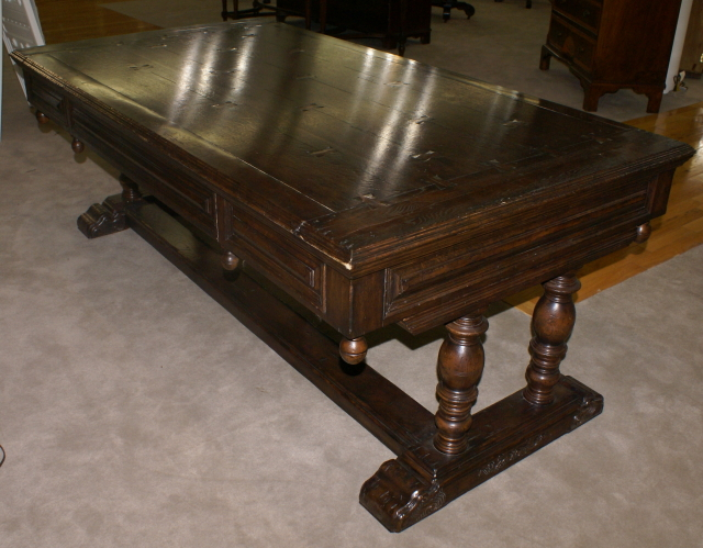 ... oak antique library table - Nicole Madison's Fine Furniture And Antiques