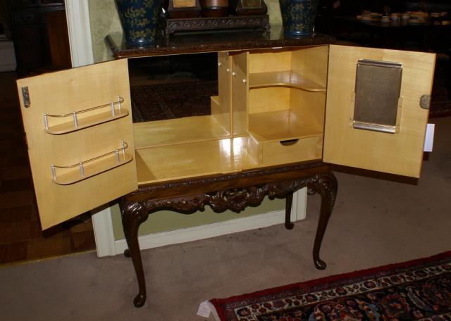 mahogany antique liquor cabinet mahogany antique liquor cabinet - Walnut Queen Anne English Bar
