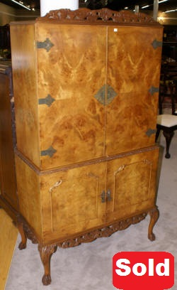 liquor cabinet antique