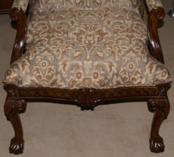 mathced pair of chippendale arm chairs