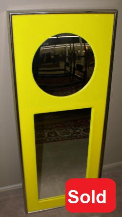 Vintage Retro carvers guild yellow mirror