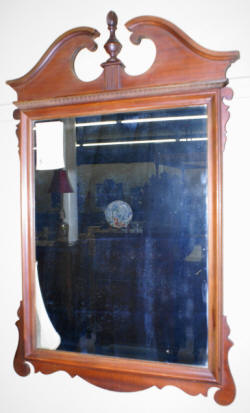 heavily carved antique chippendale mirror