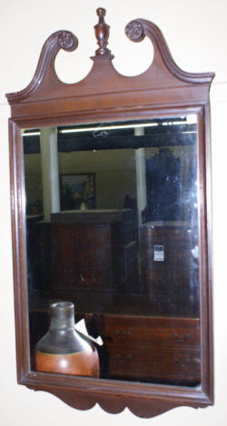 antique chippendale mahogany mirror