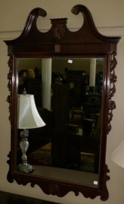floral carved antique french carved mirror