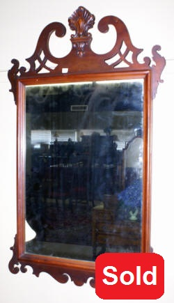 antique mahogany chippendale mirror