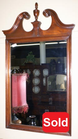 hepplewhite antique mirror