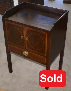 Baker Furniture mahogany inlaid Historic Charleston Collection night stand