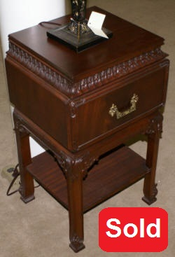 One drawer Chinese Chippendale night stand