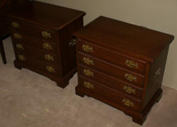 Henkel Harris solid wild black cherry finish #24 matched pair of night stands