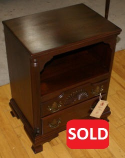 Georgetown galleries solid mahogany shell carved night stand