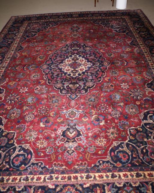 Handmade Persian Mashad Rug