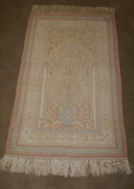 Handmade Silk Prayer Rug Tree Of Life