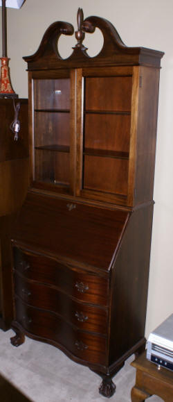 Marvelous Antique Secretary Desk Mahogany Secretary Chippendale Home Interior And Landscaping Oversignezvosmurscom