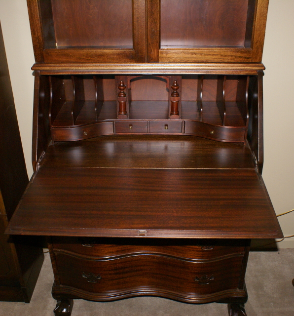 Ball And Claw Foot Secretary Desk