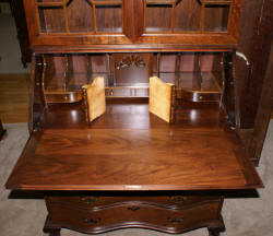 Walnut antique Chippendale secretary desk