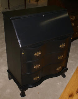 Painted black Governor Winthrop desk