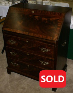 Sensational Antique Secretary Desk Mahogany Secretary Chippendale Home Interior And Landscaping Oversignezvosmurscom