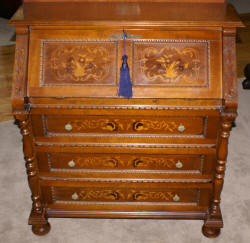 Italian inlaid fall front desk
