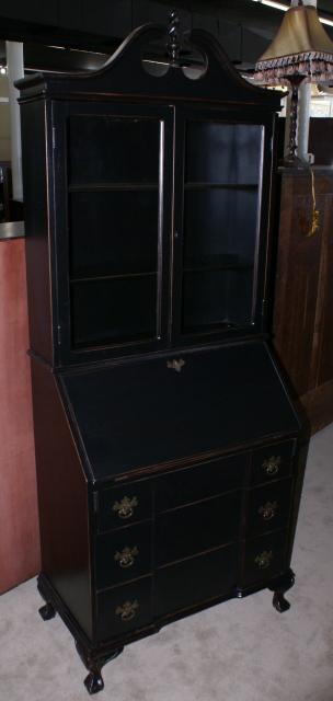Painted Black Shabby Chic Secretary Desk
