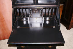Painted black shabby chic secretary desk