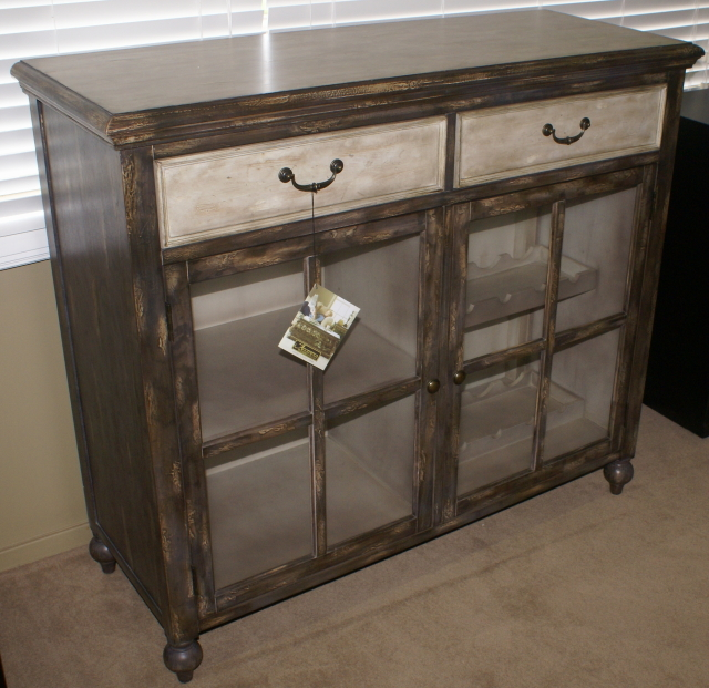 Merveilleux Pulaski Furniture Company Distressed Two Tone Wine Cabinet ...
