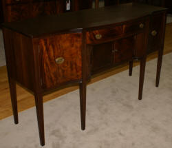 Pencil inlaid mahogany antique sideboard