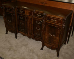 Walnut French heavily carved sideboard