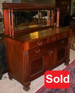 solid mahogany antique sideboard