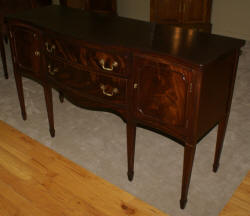 Mahogany antique serpentine front sideboard