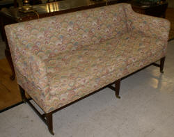 Down cushion mahogany sofa