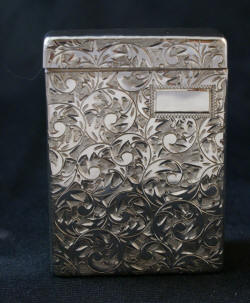 Antique sterling silver cigarette case