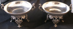 pair of sterling silver footed compotes