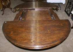 Eastlake marble top walnut parlor table