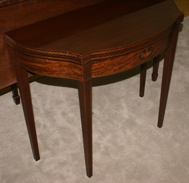 Delightful Mahogany Urn Inlaid Flip Top Game Table ...