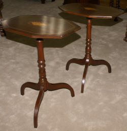 Empire Revival oval mahogany library table