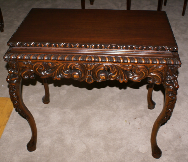 Attractive Heavily Carved Antique Gothic Table