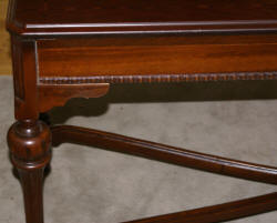 Inlaid antique walnut 1930s library table