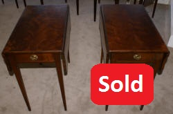pair of flame mahogany Pembroke drop side tables