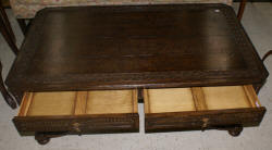 Jonathan Charles oak carved coffee table