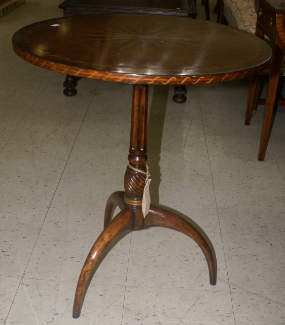 Jonathan Charles Round Inlaid Side Table
