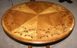 Jonathan Charles inlaid round center table
