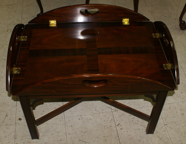 council craftsman solid mahogany butler coffee table
