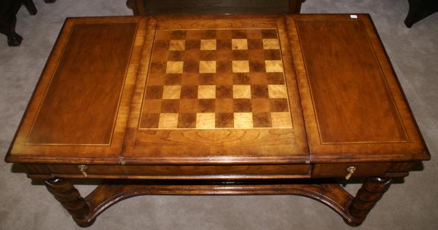 Jonathan Charles Chess Top Game Coffee Table