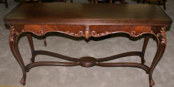 French carved library table
