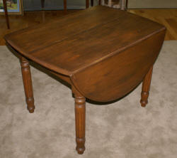 chestnut drop leaf kitchen table