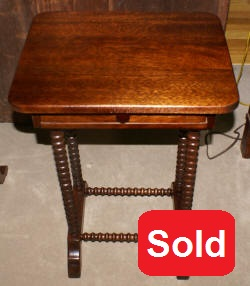 Solid mahogany one drawer stand