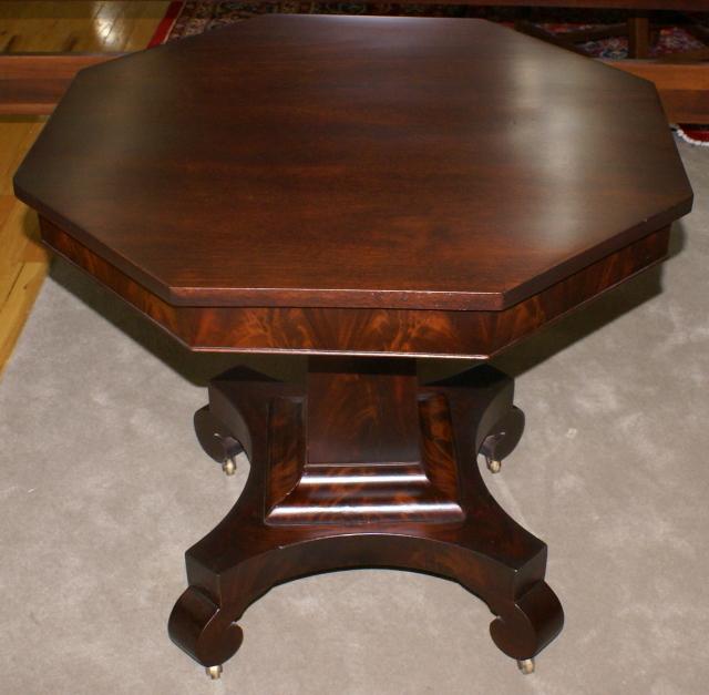 ... Empire Revival Mahogany Center Table